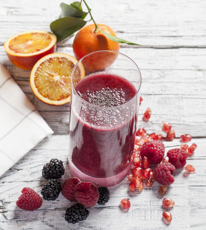 Jus fruits rouges cours
